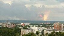 Explosiones en un depósito de armas en Siberia