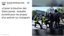Sur Instagram, un policier promet de «casser la bouche des Gilets jaunes » : une enquête ouverte