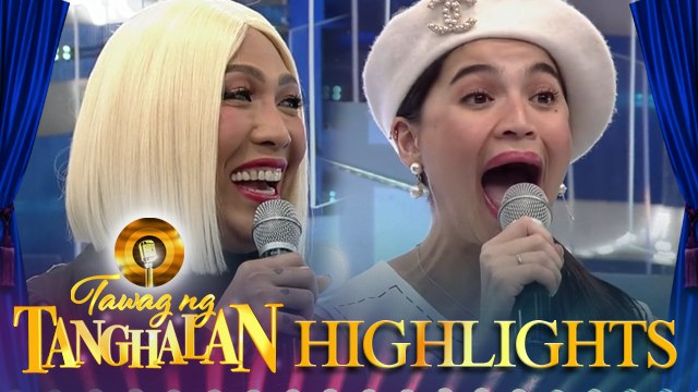 Vice Ganda gets shocked by Anne Curtis while doing a vocal exercise   Tawag ng Tanghalan