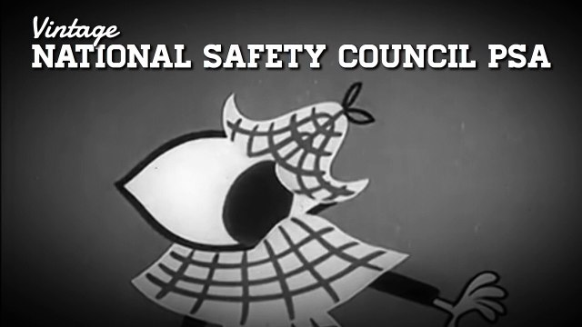 Vintage 1950's National Safety Council PSA