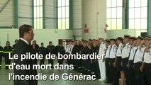Incendie Gard: hommage au pilote du bombardier d'eau mort