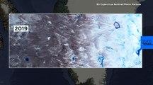 Antes / después: el episodio de deshielo en Groenlandia visto desde el espacio