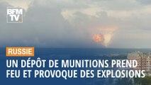 Un dépôt de munitions prend feu en Sibérie et provoque des explosions pendant plusieurs heures