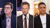 Late-Night Hosts Urge Congress to Change Gun Laws Following Recent Mass Shootings | THR News