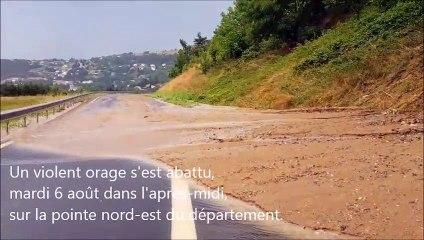 Orage sur Pont-Salomon et Aurec-sur-Loire (43), mardi 6 août 2019