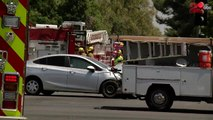 Pregnant woman ejected from vehicle following two car crash in Bakersfield