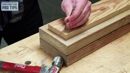 Blunt Nail to Prevent Wood Splitting
