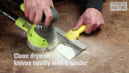 The Best Way to Clean Drywall Knives
