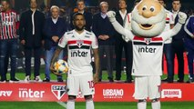 Dani Alves introduced by Sao Paulo after return to Brazil
