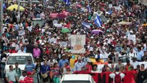 Manifestantes reclaman salida del presidente hondureño por acusación de narcotráfico