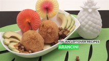 Turning leftover rice into delicious arancini