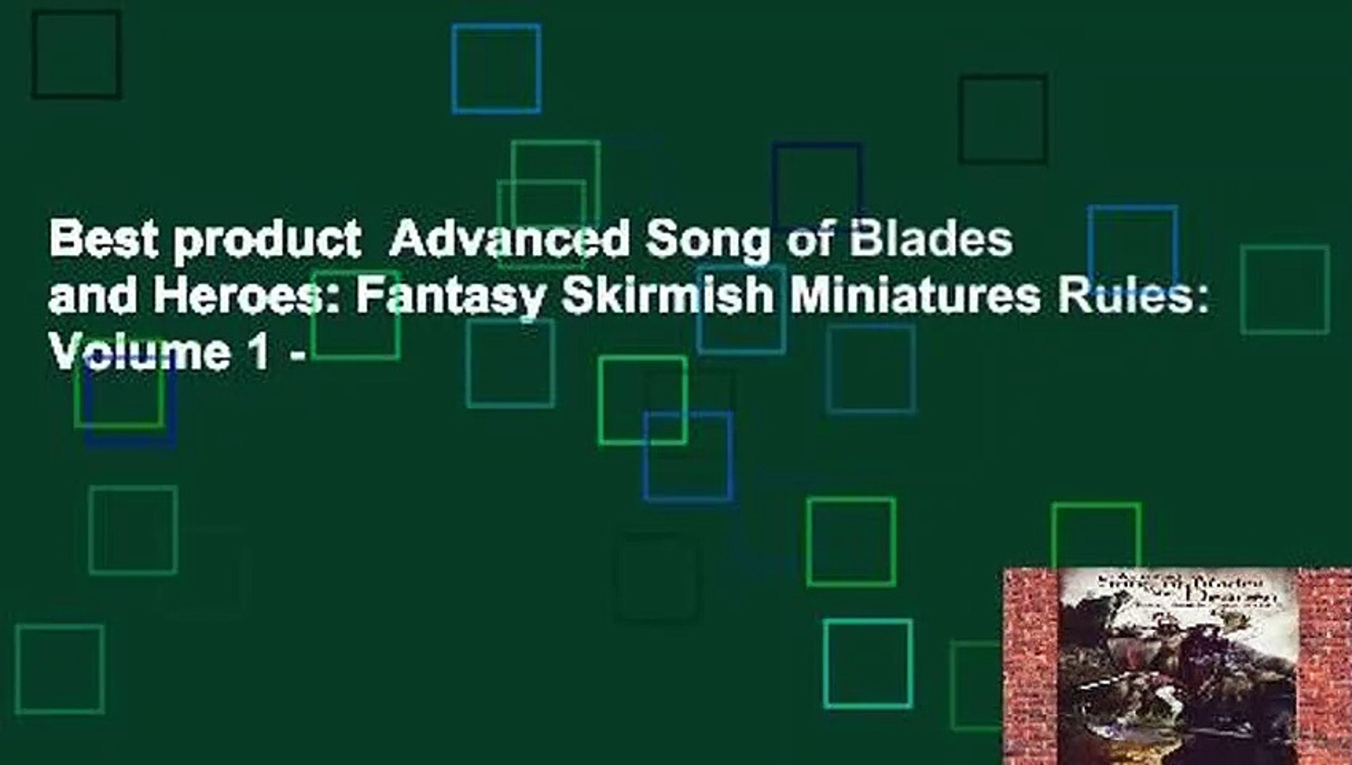 Best product Advanced Song of Blades and Heroes: Fantasy Skirmish  Miniatures Rules: Volume 1 -