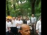 Hrithik Roshan and Rakesh Roshan at funeral of veteran producer Jay Om Prakash