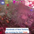 Blind panic as New Yorkers run for their lives in Times Square