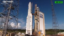 European Space Agency launches latest satellite into space from French Guiana