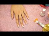 How To Do French Manicure At Home | French Tips | DIY Nail Art - POPxo Beauty
