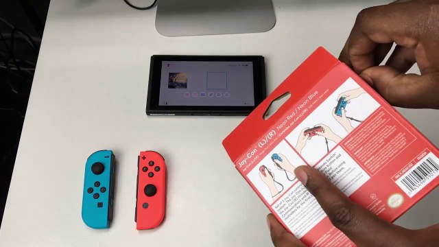 Neon Red & Blue Joy Con Unboxing + Nintendo Switch