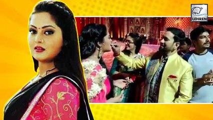 Nirahua और Amrapali ने मिलकर मनाया Anjana Singh का Birthday