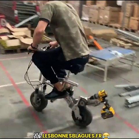 Vélo + perceuse =