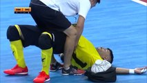 Bizarre physio tretament and awful error completes bad day for Futsal keeper