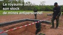 La Thaïlande détruit les restes de son stock de mines antipersonnel