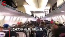 Ülke olarak izlememiz gereken bir video! Uçaktan nasıl inilir?
