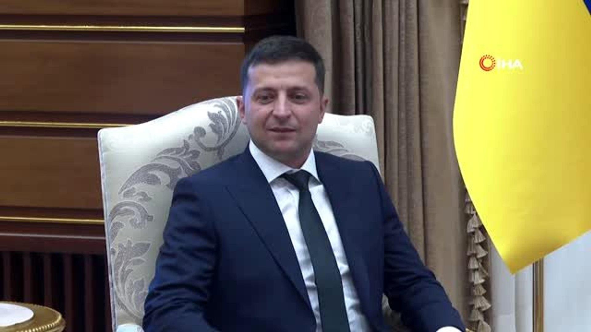 Cumhurbaşkanı Erdoğan, Ukrayna Cumhurbaşkanı Vladimir Zelenskiy ile görüştü