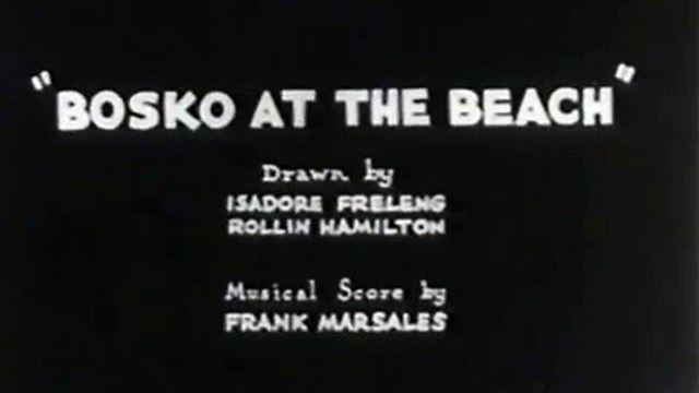 Bosko At The Beach (Bosko, Looney Tunes, Warner Bros, Public Domain)