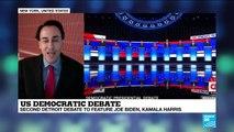 US Democratic debate : Detroit debate to feature Joe Biden, Kamala Harris