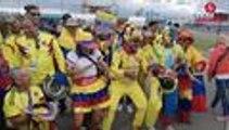 Baile, alegría y salsa se toman los alrededores del estadio donde jugará la Selección Colombia