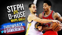 Derrick Rose vs Stephen Curry MVPS Duel 2015.01.27 - Steph With 21 Pts, 9 Ast, Rose With 30-
