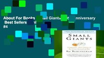 About For Books  Small Giants--10th-Anniversary  Best Sellers Rank : #4