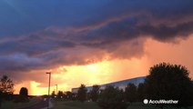 A stormy sunset at Pennsylvania State University