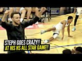 Steph Curry GOES CRAZY After NASTY Ankle Breaker at His HS ALL Star Game-