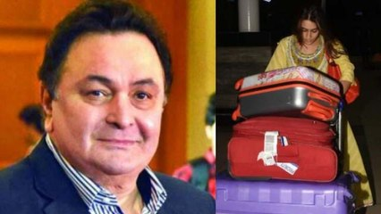 Sara Ali Khan gets appreciation from Rishi Kapoor for carrying her own luggage at airport  FilmiBeat
