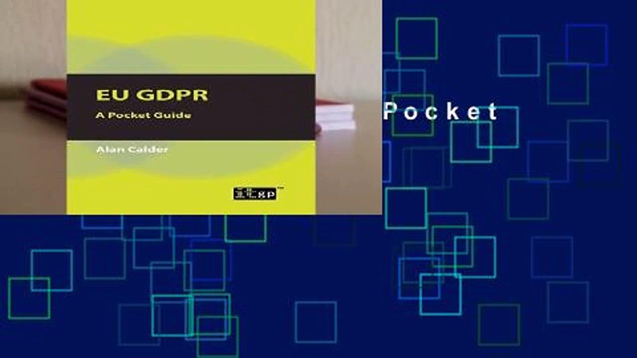 [Doc] EU GDPR: A Pocket Guide