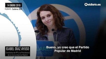 Díaz Ayuso se desvincula de su relación con Cifuentes y Aguirre