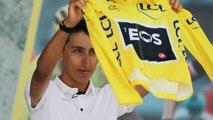 En jaune, retour triomphal d'Egan Bernal en Colombie