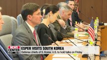 Esper arrives in South Korea for bilateral defense talks slated for Friday