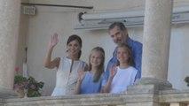 Los reyes visitan con sus hijas la Casa Museo de Son Marroig en Mallorca