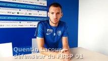 Quentin Lacour avant la rencontre à Béziers