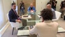 Pedro Sánchez se reúne con los secretarios generales de UGT y CCOO