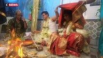 Inde : un couple de transgenres s'est uni lors d'une cérémonie traditionnelle bengali