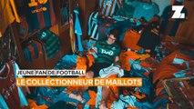 Jeune fan de football: la collection de maillots de Taras