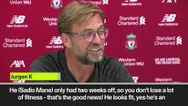 (Subtitled) 'Mane's only had 2 weeks off so he's fit!!' Klopp