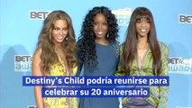 Destiny's Child podría reunirse para celebrar su 20 aniversario