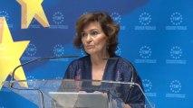 Carmen Calvo lamenta la muerte del joven de 15 años de Andorra a manos de su padre