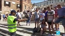 Tourists banned from eating, sitting at historical monuments in Rome