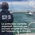 Gironde: Opération de prévention de la préfecture maritime au large de l'estuaire