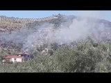 Zjarr në Cakran, rrezikohen banesat